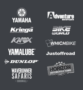 Redtread's Off road motorcycle partners are Yamaha, Kriega, Adventure Motorcycle, Knox, Whichbike, Yamalube, Justoffroad, Dunlop, Waverunner Safaris, Horizon Motorcycle Tours