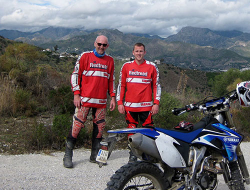 Sierra Nevada photograph of two riders with Readtread during an off road motorcycle tour